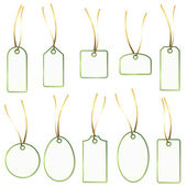 Pendant Collection - white and green — ストックベクタ