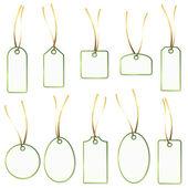 Pendant Collection - white and green — Vector de stock