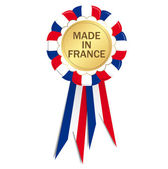 Seal with ribbons MADE IN FRANCE — Stock Vector