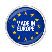 Button - MADE IN EUROPE — Stock Vector