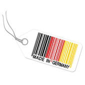 Hangtag with MADE IN GERMANY — Stock Vector