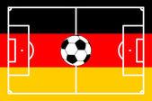 Football field GERMAN background - vector illustration — Stock Vector