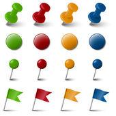 Kolekce čtyř barevné označení příslušenství — Stock vektor
