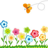 Colored floral background - vector — Stockvector