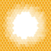 Honeycomb background - hole in the middle — Vettoriale Stock