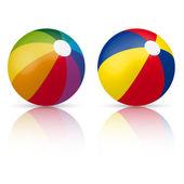 Colorful beach ball — Stock Vector