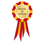 Seal with ribbons MADE IN SPAIN — Stock Vector