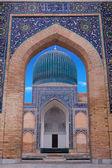 The mausoleum of the Asian conqueror Tamerlane in Samarkand, Uzb — Stock Photo