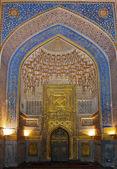 внутри улугбека прошу медресе, самарканд, узбекистан — Стоковое фото