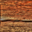 A fragment of a wooden structure of the building — Stock Photo