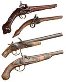 Vintage firearm pistols — Stock Photo