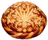Ukrainian festive Bread — Stock Photo