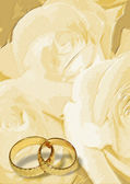 Yellow wedding greeting blank — Stock Photo