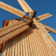 Rural wooden windmill — Stock Photo