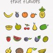 Stock Vector: Fruit icons set
