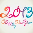 Happy New Year 2013 curly hand letters - Stock Vector