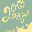 Happy 2013 year illustration - Stock Vector
