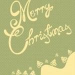 Retro Merry Christmas card illustration — Stock Vector