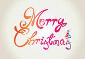 Merry Christmas text design — Stock Vector