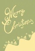 レトロなメリー クリスマス カード イラスト — ストックベクタ