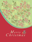 Merry Christmas card with elements — Stock Vector