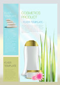Spa Cosmetic flyer — Stock Vector