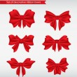 Set of decorative ribbon bows vector illustration - Stock Vector