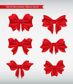 Set of decorative ribbon bows vector illustration — Stock Vector