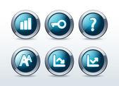 Web button icon set vector illustration — Stock Vector