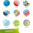 Sphere icon set — Stock Vector #27354743