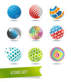Sphere icon set — Stock Vector