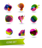 Abstract shape icons — Stock Vector