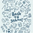 Back to school sketchy doodles — Stock Vector