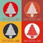Merry Christmas greeting card — Stockvektor