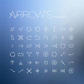 Vector arrows icon set — Stock Vector