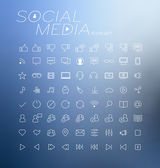 Social media icons vector illustration — Stock Vector