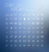 Social media icons vector illustration — Stock Vector