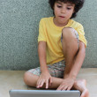 Kid with laptop — Stock Photo #12106138