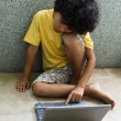 Stock Photo: Kid with laptop
