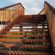 Iron stairs - Stock Photo