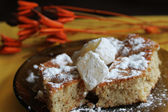 Desert with turkish delight (lokum) — Stockfoto