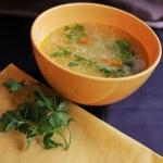 Meatball soup — Stock Photo