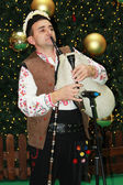 Bulgarian bagpiper — Stock Photo