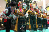 Bulgarian dancers — Stock Photo