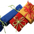 Three colorful presents — Stock Photo