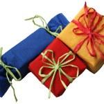 Three colorful presents — Stock Photo