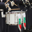 Drums and uniforms — Stock Photo