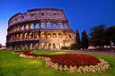 Coloseum in Twightlight without — Stock Photo
