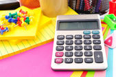 Calculator in education — Stock Photo
