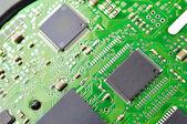 Ic na placa de circuito verde — Fotografia Stock